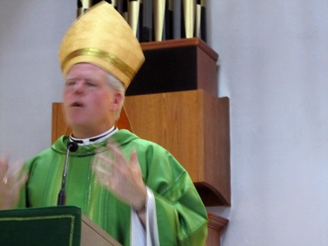 Bishop Bergie during his homily