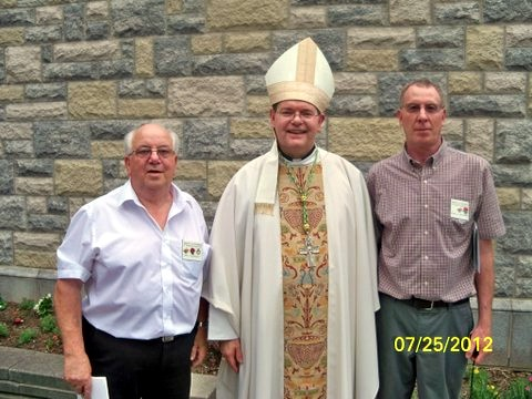 Bishop Kirkpatrick, with Knights Des Kennedy & Brian Whittaker